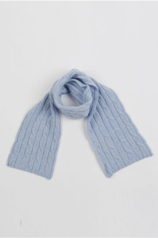 Baby scarf 100% cashmere in Light blue