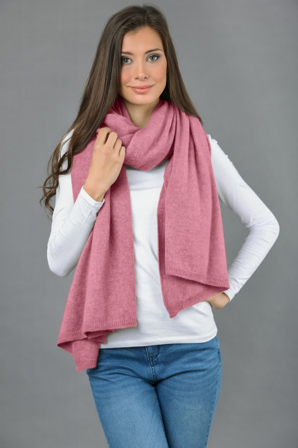 Pure Cashmere Wrap in Antique Pink 2