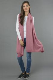 Pure Cashmere Wrap in Antique Pink