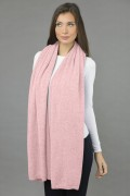 Knitted Pure Cashmere Wrap in Baby Pink  3