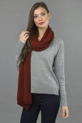 Knitted Pure Cashmere Wrap in Bordeaux 1