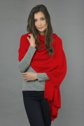 Pure Cashmere Wrap in Red 1