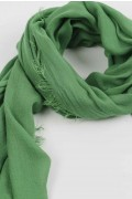 Lightweight Summer Scarf Shawl Wrap 100% Bamboo Green close-up 01