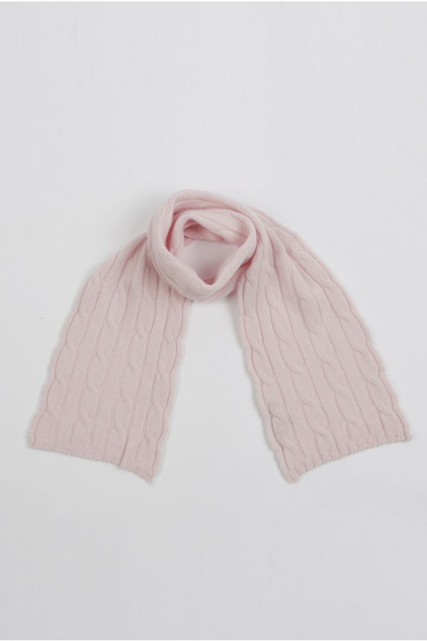 Baby scarf 100% cashmere in baby rosa