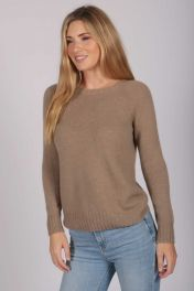 Camel Brown Crew Neck Sweater 100% Cashmere