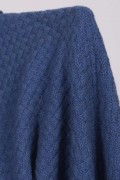 Cashmere blanket throw knitted chequers pattern detail 2