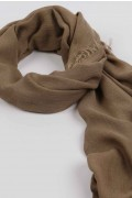 Lightweight Summer Scarf Shawl Wrap 100% Bamboo colour Brown close-up 02