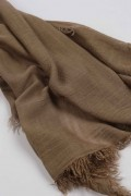 Lightweight Summer Scarf Shawl Wrap 100% Bamboo colour Brown close-up 03