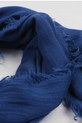 Lightweight Summer Scarf Shawl Wrap 100% Bamboo colour Denim Blue close up 02