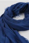Lightweight Summer Scarf Shawl Wrap 100% Bamboo colour Denim Blue close up 03