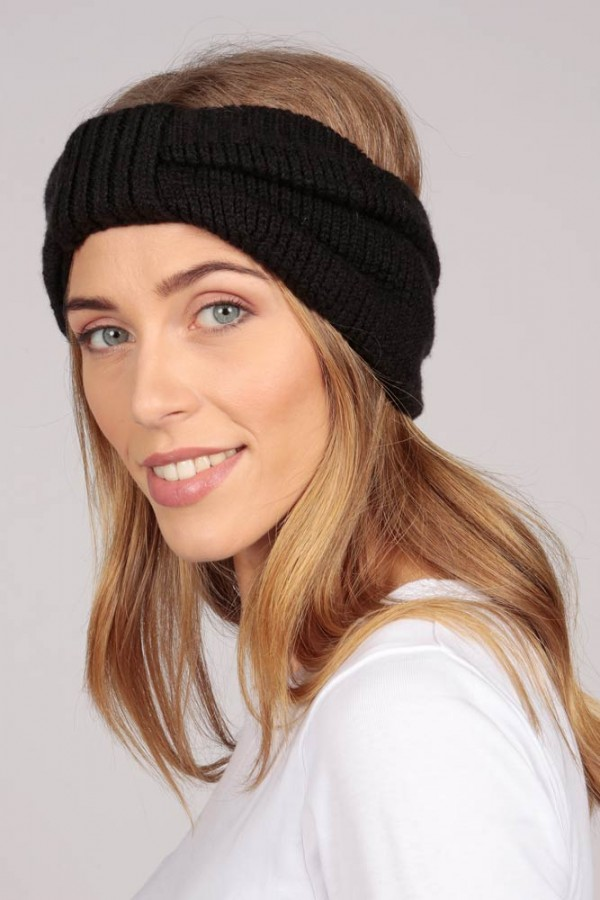 Cashmere headband black