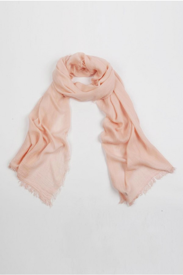 Lightweight Summer Scarf Shawl Wrap 100% Bamboo colour Baby Pink 01