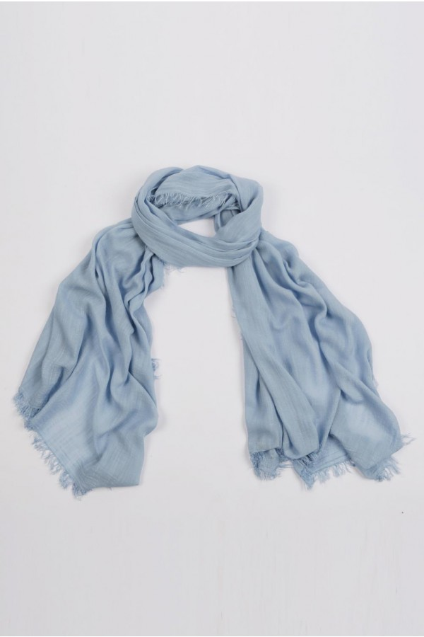 Lightweight Summer Scarf Shawl Wrap 100% Bamboo Light Blue 01