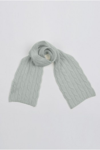 Baby scarf 100% cashmere in gris claro