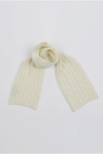 Baby scarf 100% cashmere in blanco crema