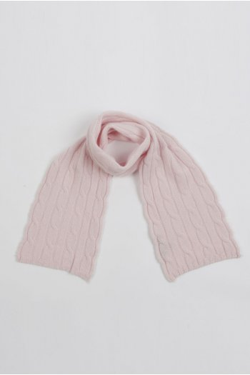 Baby scarf 100% cashmere in rosa bebé
