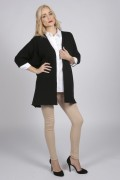 Black pure cashmere duster cardigan