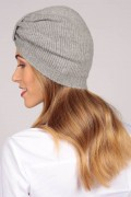 Cashmere turban in light grey 2
