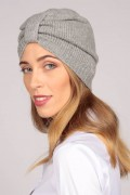 Cashmere turban in light grey 3