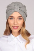 Cashmere turban in light grey 1