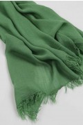 Lightweight Summer Scarf Shawl Wrap 100% Bamboo Green close-up 03