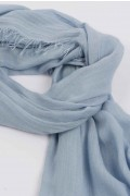 Lightweight Summer Scarf Shawl Wrap 100% Bamboo Light Blue close-up 01