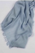 Lightweight Summer Scarf Shawl Wrap 100% Bamboo Light Blue close-up 03