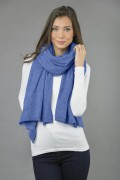 Pure Cashmere Wrap in Periwinkle Blue 04