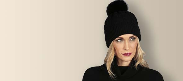 Pure cashmere hats