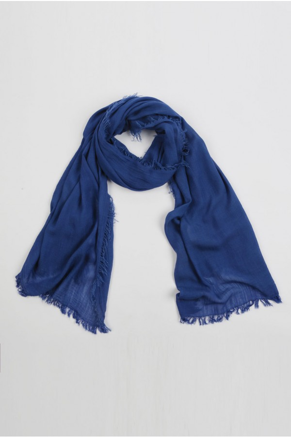 Lightweight Summer Scarf Shawl Wrap 100% Bamboo colour Denim Blue 01