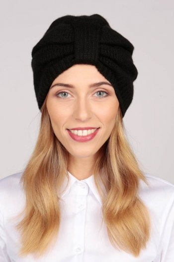 Cashmere Turban in Black