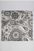 Summer scarf in bamboo wrap square shawl Paisley pattern print flat