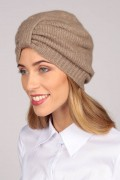 Cashmere turban in camel brown 3