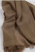 Lightweight Summer Scarf Shawl Wrap 100% Bamboo colour Brown close-up 01