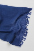 Lightweight Summer Scarf Shawl Wrap 100% Bamboo colour Denim Blue close up 01