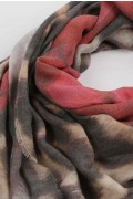 Summer scarf in bamboo wrap square shawl Rose print 2