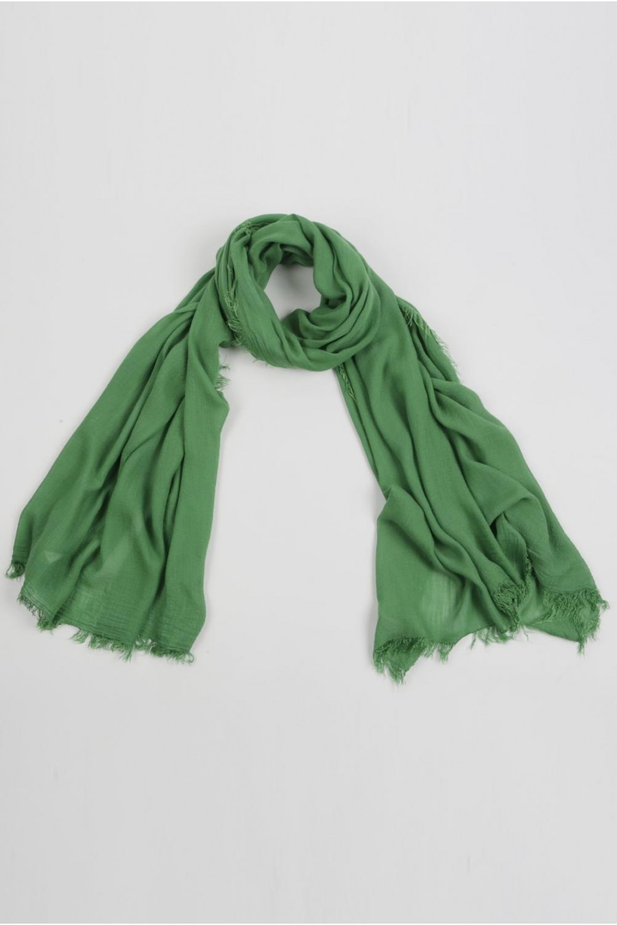 994382a33 Lightweight Summer Scarf Shawl Wrap 100% Bamboo Green | Italy in Cashmere IT