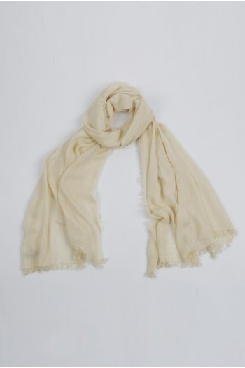 Lightweight Summer Scarf Shawl Wrap 100% Bamboo colour Custard White