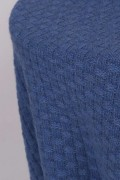 Cashmere blanket throw knitted chequers pattern detail 1