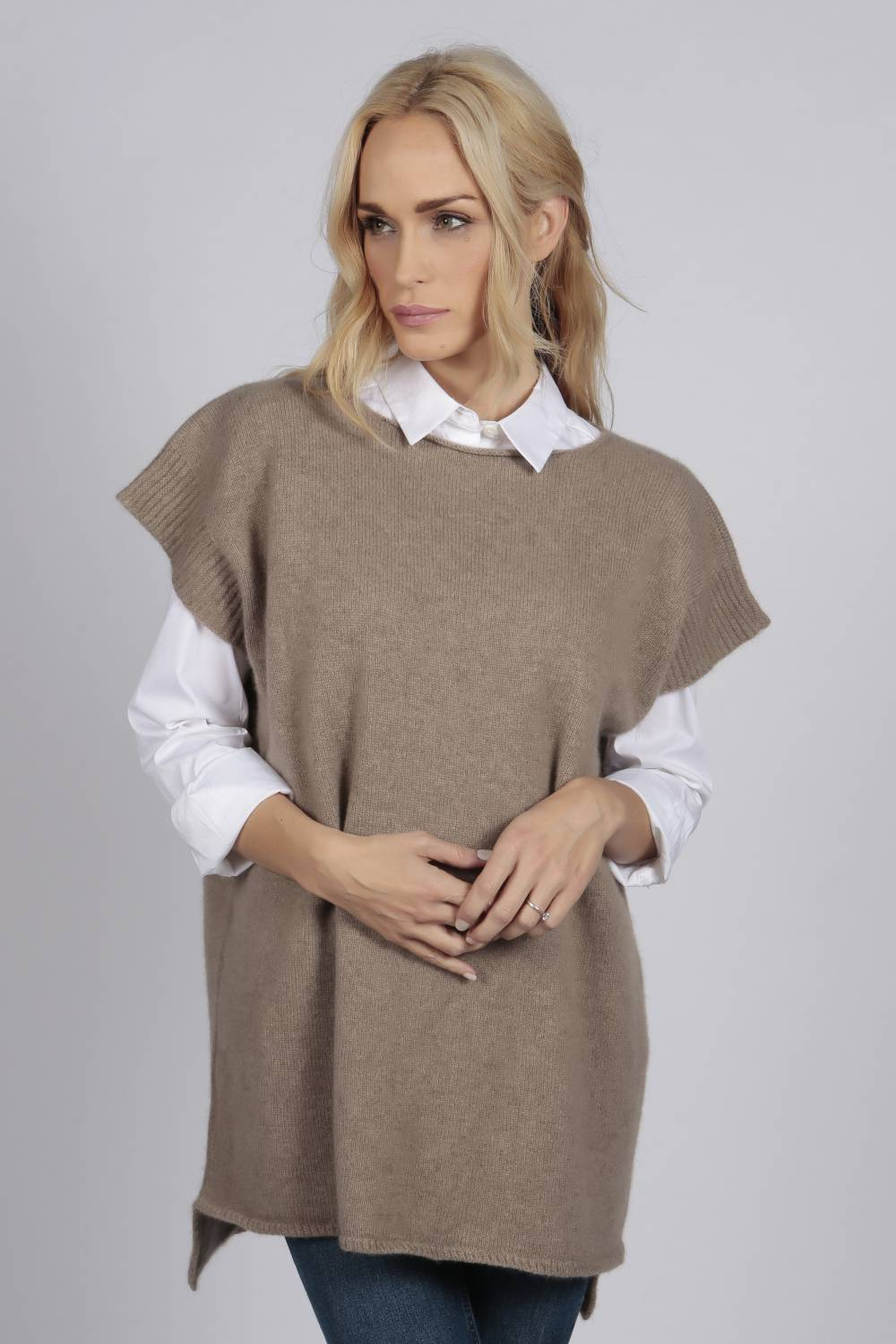 Sleeveless sweater | Italy in Cashmere