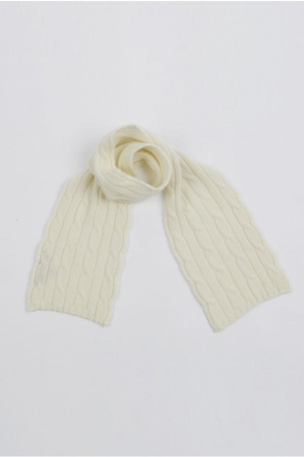 Baby scarf 100% cashmere in Cream White