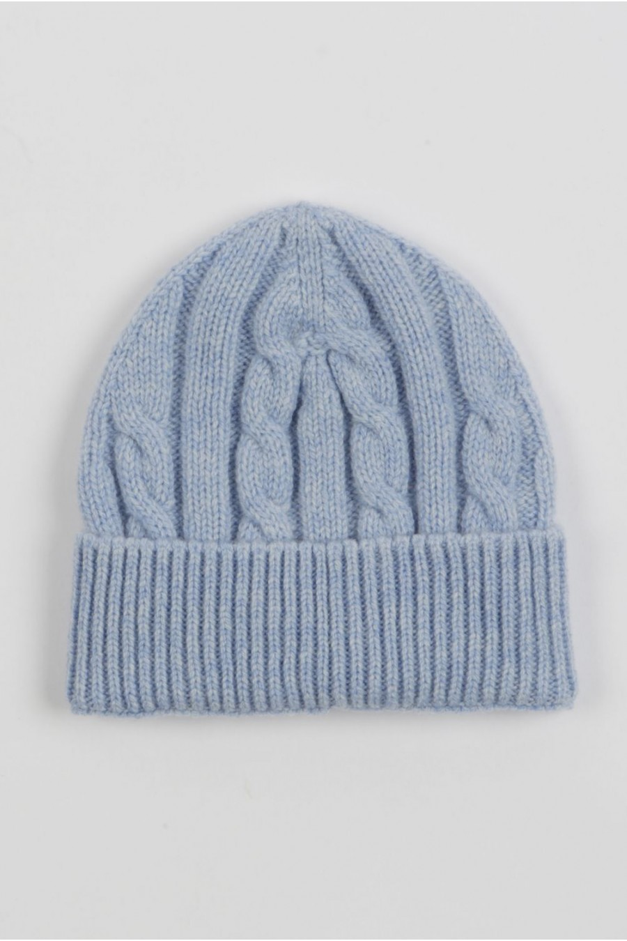 Baby cashmere beanie hat light blue  b101f710755