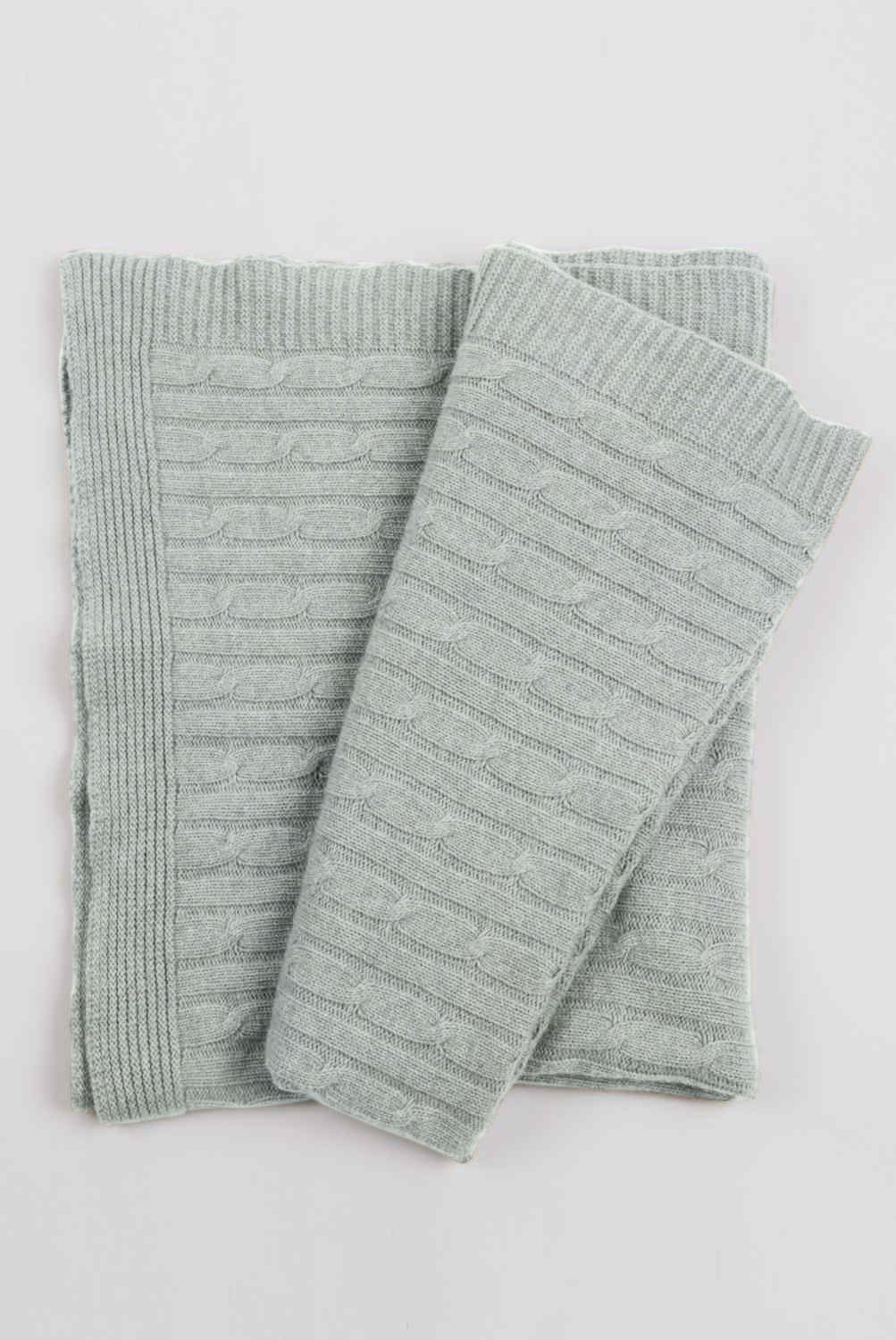 Cable Knit Cashmere Throw Pillow