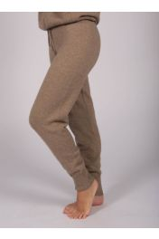 Women's Pure Cashmere Joggers Pants in Camel Brown
