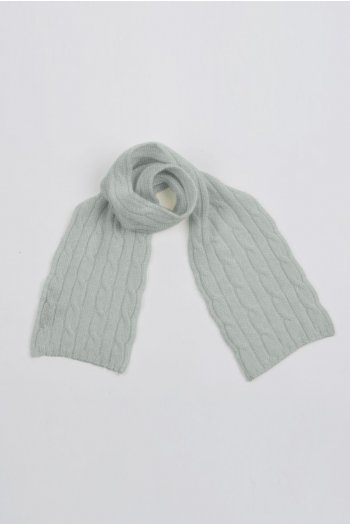 Baby scarf 100% cashmere in Light gray