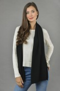 Cashmere scarf in Black 1