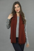 Pure Cashmere Plain Knitted Small Stole Wrap in Bordeaux 1