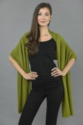Pure Cashmere Wrap in Olive green - made in Italy