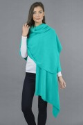 Pure Cashmere Wrap in Tiffany Blue 3