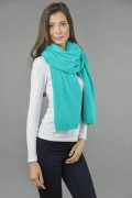 Pure Cashmere Wrap in Tiffany Blue 2